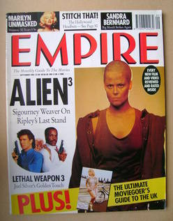 <!--1992-09-->Empire magazine - Sigourney Weaver cover (September 1992 - Is