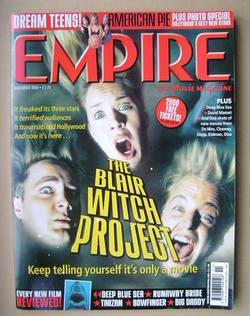 <!--1999-11-->Empire magazine - The Blair Witch Project cover (November 199