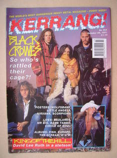 <!--1991-10-26-->Kerrang magazine - Black Crowes cover (26 October 1991 - I