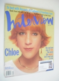 <!--1995-08-->Interview magazine - August 1995 - Chloe Sevigny cover