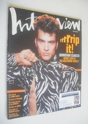 <!--1996-10-->Interview magazine - Johnathon Schaech cover (October 1996)
