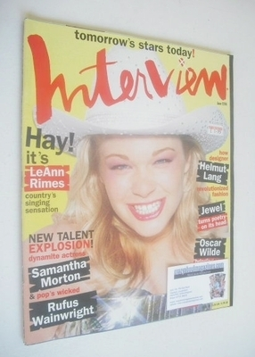 <!--1998-06-->Interview magazine - June 1998 - LeAnn Rimes cover