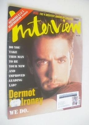 <!--1997-06-->Interview magazine - June 1997 - Dermot Mulroney cover
