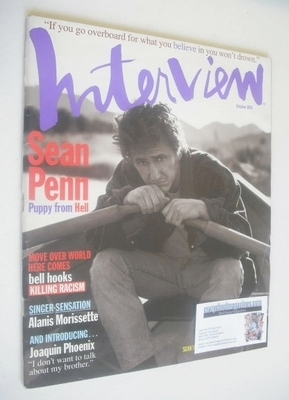 <!--1995-10-->Interview magazine - October 1995 - Sean Penn cover