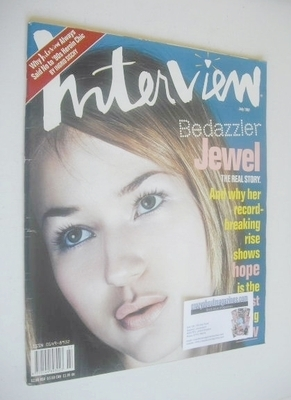 <!--1997-07-->Interview magazine - July 1997 - Jewel cover