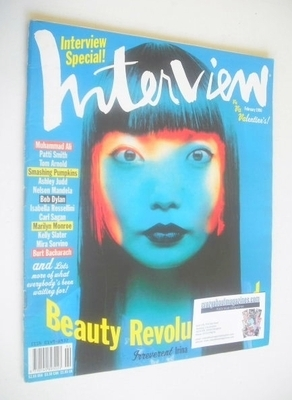 <!--1996-02-->Interview magazine - February 1996 - Irinia Pantaeva cover