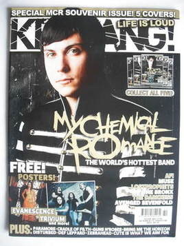 <!--2006-10-21-->Kerrang magazine - Frank Iero cover (21 October 2006 - Iss