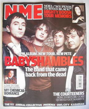 <!--2009-12-05-->NME magazine - Babyshambles cover (5 December 2009)