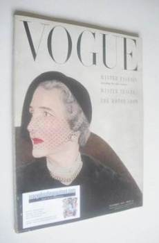 British Vogue magazine - November 1950 (Vintage Issue)