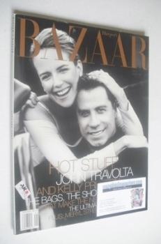 Harper's Bazaar magazine - January 1999 - John Travolta and Kelly Preston cover