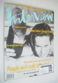 Interview magazine - January 1993 - Willem Dafoe cover