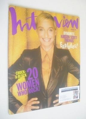 <!--1996-11-->Interview magazine - November 1996 - Kristin Scott Thomas cov