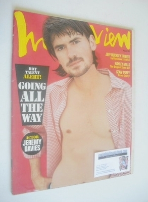 <!--1997-08-->Interview magazine - August 1997 - Jeremy Davies cover