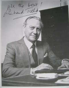 Richard Todd autograph (hand-signed card)