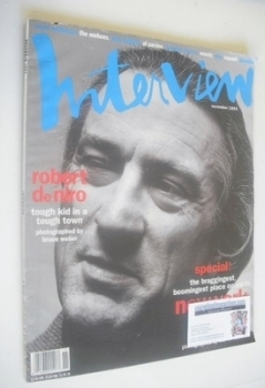Interview magazine - November 1993 - Robert De Niro cover