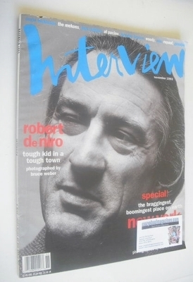 <!--1993-11-->Interview magazine - November 1993 - Robert De Niro cover