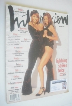 <!--1993-09-->Interview magazine - September 1993 - Raquel Welch and Tahnee Welch cover