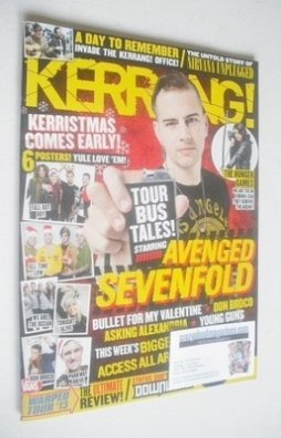 <!--2013-11-30-->Kerrang magazine - Avenged Sevenfold cover (30 November 20