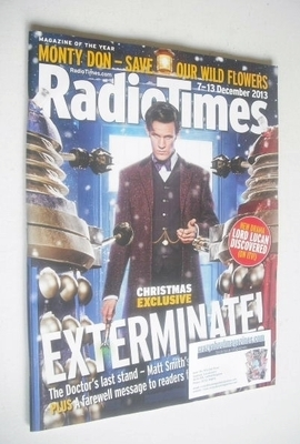 <!--2013-12-07-->Radio Times magazine - Matt Smith cover (7-13 December 201