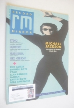 Record Mirror magazine - Michael Jackson cover (29 August 1987)