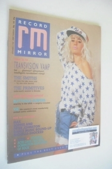 Record Mirror magazine - Wendy James cover (5 September 1987)