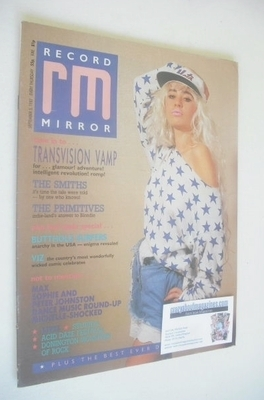 <!--1987-09-05-->Record Mirror magazine - Wendy James cover (5 September 19