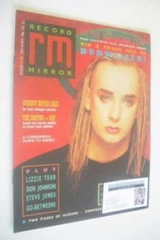 Record Mirror magazine - Boy George cover (19 September 1987)