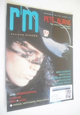 <!--1986-09-06-->Record Mirror magazine - Pete Burns cover (6 September 198