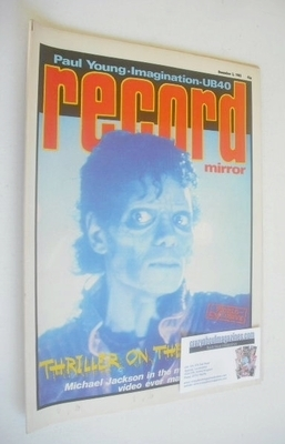 <!--1983-12-03-->Record Mirror magazine - Michael Jackson cover (3 December