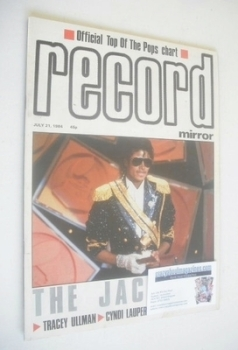 Record Mirror magazine - Michael Jackson cover (21 July 1984)
