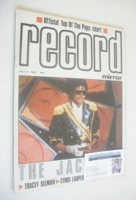 <!--1984-07-21-->Record Mirror magazine - Michael Jackson cover (21 July 19