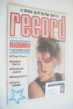 Record Mirror magazine - Madonna cover (19 May 1984)