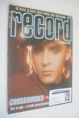 <!--1984-01-14-->Record Mirror magazine - Nick Rhodes cover (14 January 198