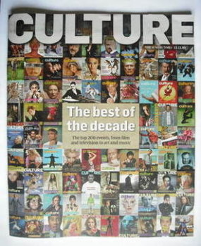 Culture magazine - The Best Of The Decade cover (13 December 2009)