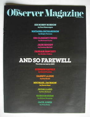 <!--2009-12-13-->The Observer magazine - And So Farewell cover (13 December
