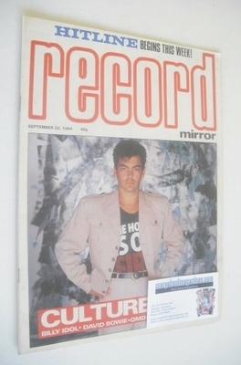 <!--1984-09-22-->Record Mirror magazine - Jon Moss cover (22 September 1984