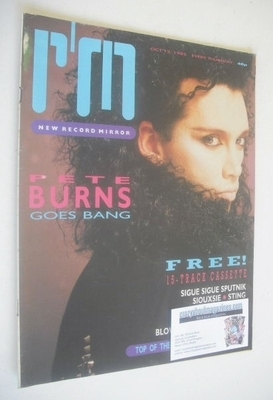 <!--1985-10-12-->Record Mirror magazine - Pete Burns cover (12 October 1985