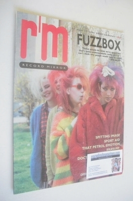 <!--1986-05-17-->Record Mirror magazine - Fuzzbox cover (17 May 1986)