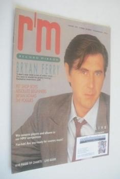 Record Mirror magazine - Bryan Ferry cover (29 March 1986)