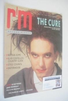 Record Mirror magazine - Robert Smith cover (26 April 1986)