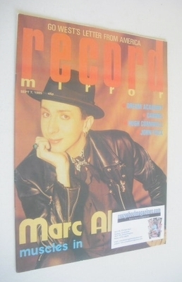 <!--1985-09-07-->Record Mirror magazine - Marc Almond cover (7 September 19