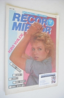 <!--1983-07-09-->Record Mirror magazine - Kim Wilde cover (9 July 1983)