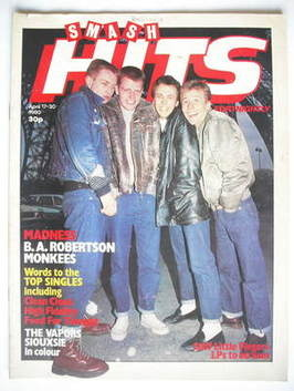 <!--1980-04-17-->Smash Hits magazine - Madness cover (17-30 April 1980)
