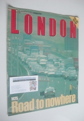 <!--1988-11-27-->The Sunday Times magazine supplement - M25 Road To Nowhere