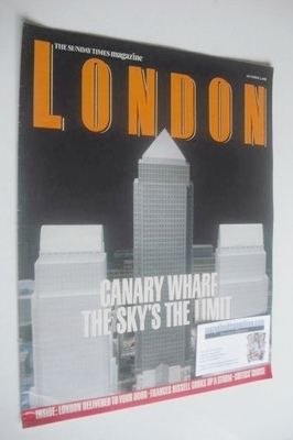 <!--1988-10-02-->The Sunday Times magazine supplement - Canary Wharf cover