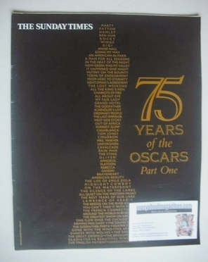 <!--2003-02-09-->The Sunday Times magazine supplement - 75 Years Of The Osc