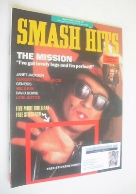 <!--1987-03-25-->Smash Hits magazine - Wayne Hussey cover (25 March-7 April