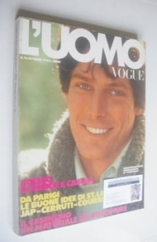 <!--1978-10-->L'Uomo Vogue magazine - October 1978 - Christopher Reeve cover