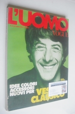 <!--1976-10-->L'Uomo Vogue magazine - October 1976 - Dustin Hoffman cover