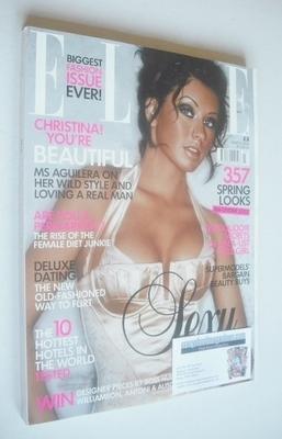 <!--2004-03-->British Elle magazine - March 2004 - Christina Aguilera cover